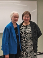 Marilyn Whiteley and Sharon Bowler at the meeting of the Canadian Baptist Historical Society